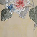 紫陽花刺繍紗名古屋帯 前中心