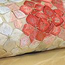 紫陽花刺繍紗名古屋帯 質感・風合