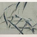 柳に蝉刺繍名古屋帯 前中心