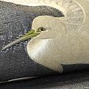 銀地に白鷺の刺繍帯 質感・風合