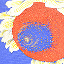 向日葵の図夏帯 質感・風合