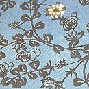 浦野理一作 バラの花型染め半幅帯 質感・風合