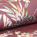 流水に萩と笹の図夏帯 質感・風合