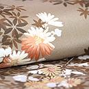 小菊と椿の花々模様散歩着   質感・風合