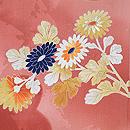 珊瑚色ぼかし紅葉、菊、梅の羽織 質感・風合