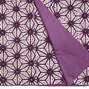 麻の葉紫紺染袷 上前