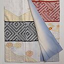 本疋田と緞子織りの段替わり訪問着 上前