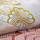 本疋田と緞子織りの段替わり訪問着 質感・風合
