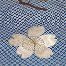 疋田柄に桜、牡丹、桐の訪問着 質感・風合