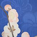 梅枝にうぐいすブルーの羽織 質感・風合