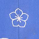 梅枝にうぐいすブルーの羽織 背紋
