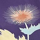 紫地アザミの付下 質感・風合