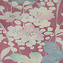 宇野千代作 桜色の暈しに桜草の訪問着 質感・風合