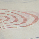 白地に渦巻き紋越後上布 質感・風合