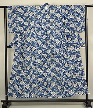 藍型染綿単衣