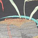 虫籠にすすき漆織単衣 質感・風合