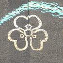 虫籠にすすき漆織単衣 背紋