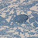松原工房作 流水に菊、松竹梅中型染め絽の小紋 質感・風合