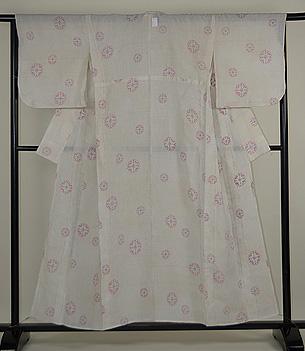 桜の花丸紋越後上布