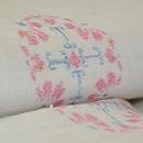 桜の花丸紋越後上布 質感・風合