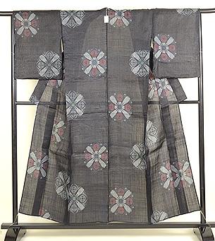 大きな丸紋の宮古上布