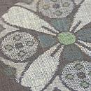 大きな丸紋の宮古上布 質感・風合