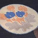 丸に花紋単衣小紋 質感・風合