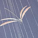 銀通しに糸とんぼの単衣小紋 質感・風合