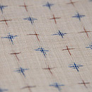 十字絣の越後上布 質感・風合