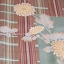 縞と格子蔦と小菊の袷お散歩着 質感・風合