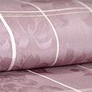 葡萄色紋錦紗変わり格子袷お散歩着 質感・風合