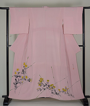 熊谷好博子作 竹垣に菊の色留袖