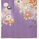薄紫地四季の花文様訪問着 上前