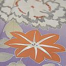 薄紫地四季の花文様訪問着 質感・風合