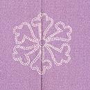 薄紫地四季の花文様訪問着 背紋