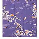 江戸紫縮緬地四季の花訪問着 上前