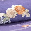 江戸紫縮緬地四季の花訪問着 質感・風合