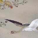水辺に雁の図付下 質感・風合