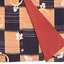 万寿菊に市松模様小紋 上前