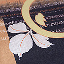 万寿菊に市松模様小紋 質感・風合