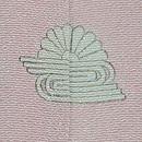 熊谷好博子作 竹垣に菊の色留袖 背紋