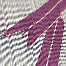 縞に矢羽根袷小紋 質感・風合
