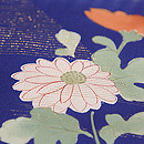 秋冬の花に市松模様小紋 質感・風合