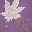 菊に紅葉の図羽織 質感・風合
