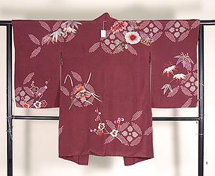 四季の花々刺繍羽織
