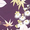 小菊に枝垂れ紅葉の図羽織 質感・風合