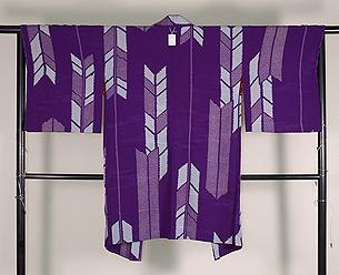 深紫矢羽根模様羽織