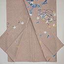 熊谷好博子作 蒔き糊に四季の花籠散らし色留袖 上前