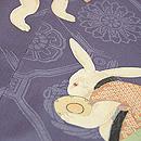 春秋ウサギの宴図付下 質感・風合