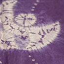 笹とふくら雀の絞り紫根染袷 質感・風合